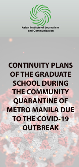 CONTINUITY PLANS OF THE GRADUATE SCHOOL DURING THE COMMUNITY QUARANTINE OF METRO MANILA DUE TO THE COVID-19 OUTBREAK
