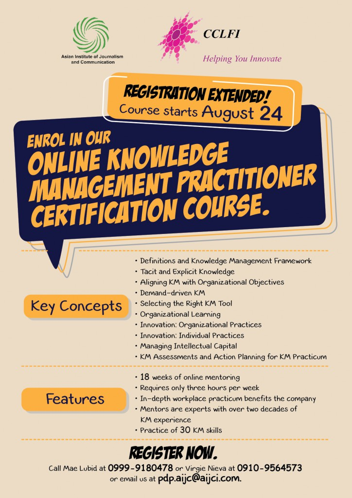 Online Knowledge Management Certification Course
