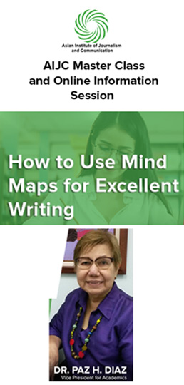 AIJC Master Class: How to Use Mind Maps for Excellent Writing by Dr. Paz H. Diaz on October 28, 2020. Register Now!