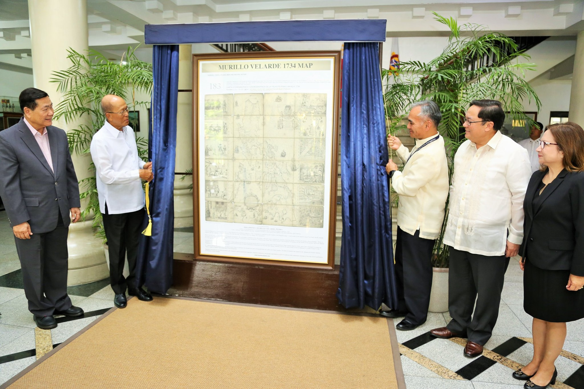 NDCP receives official replica of Murillo Velarde Map